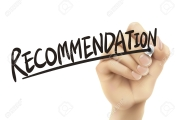 Recommendation written by hand